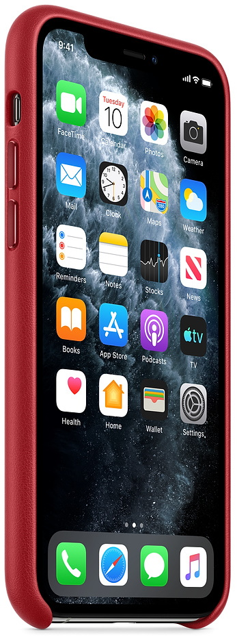 Чехол Apple iPhone 11 Pro Leather Case (PRODUCT) RED