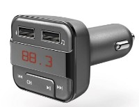 FM-модулятор Hama FM Transmitter USB Charging Gray (183274)